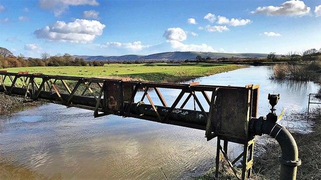 The River Adur from Bineham Bridge - Sussex