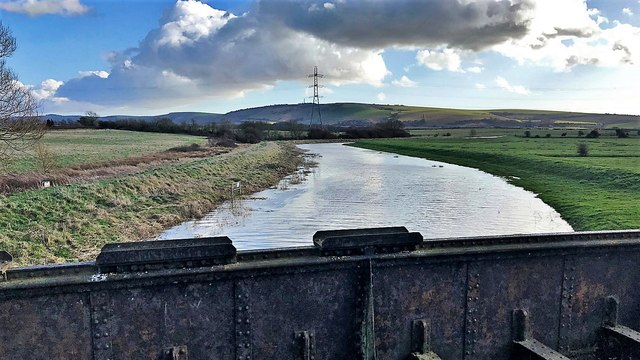 The River Adur from the Downs Link bridge