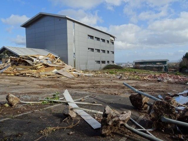 Demolition work on former Qinetiq site - 8 February