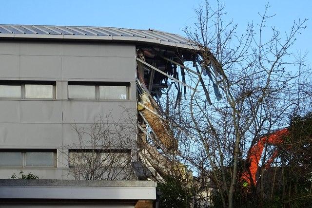 Demolition work on former Qinetiq site - 10 February