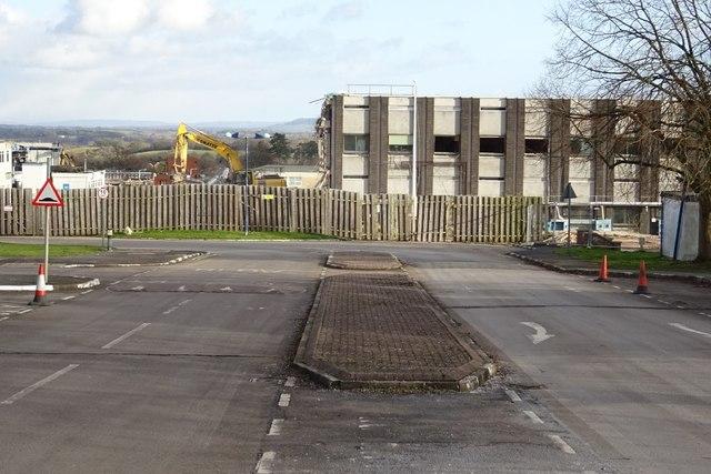 Demolition work on former Qinetiq site - 11 February