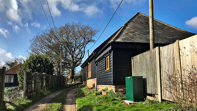 'Barn' conversion near the bottom of Windmill Lane
