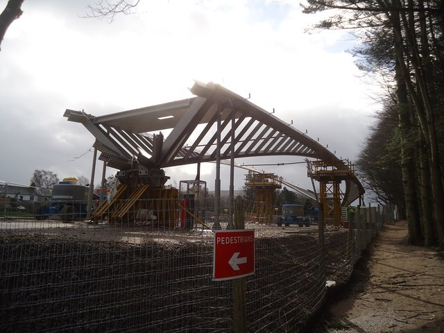 Steelwork for the new Pooley Bridge