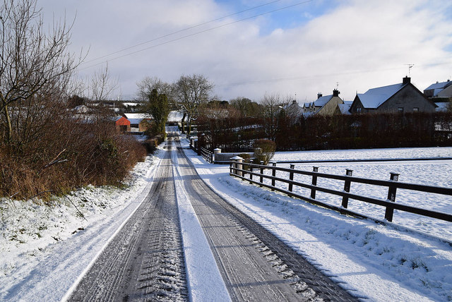 Snow and slush along Garvaghy Road