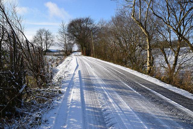 Snow along Garvaghy Road
