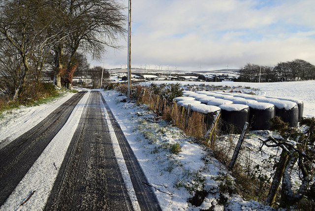 Wintry along Garvaghy Road