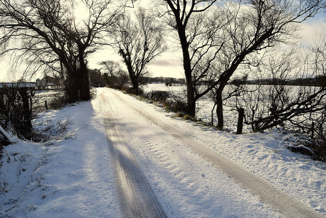 Snow along Tycanny Road