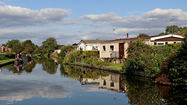 Canalside homes in Penkridge, Staffordshire
