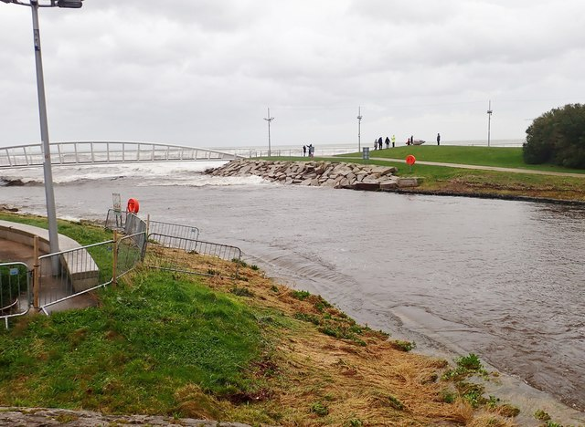 High water in the estuary of the Shimna during Storm Ciara
