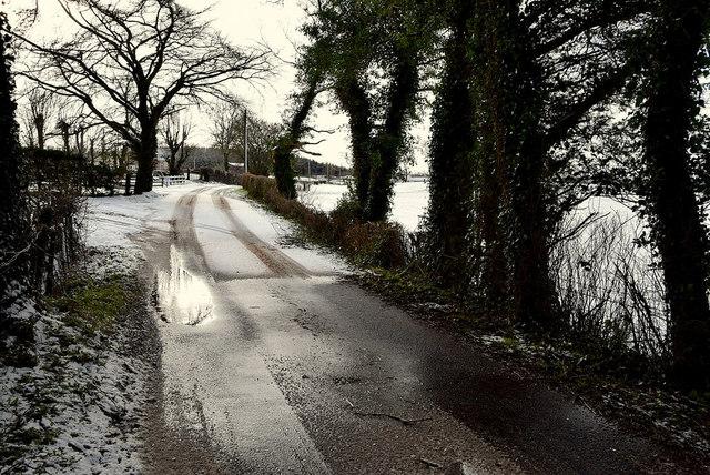 Slush along Tycanny Road