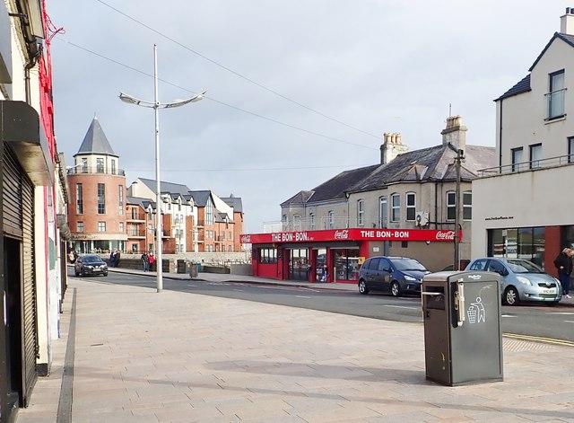 The Bon Bon Sweet Shop on the south side of Castle Bridge, Newcastle