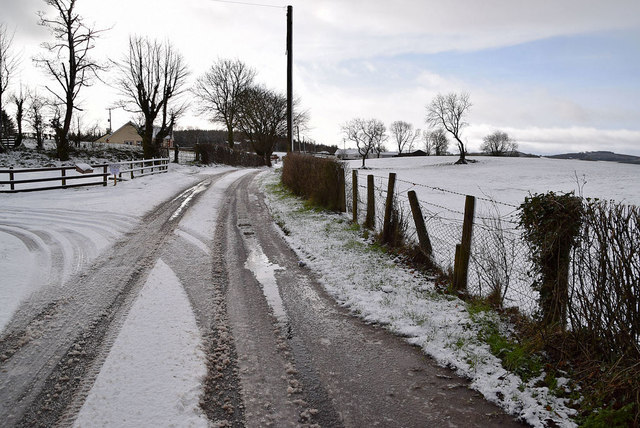 Snow and slush along Tycanny Road