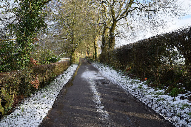 A dusting of snow along Meenmore Road