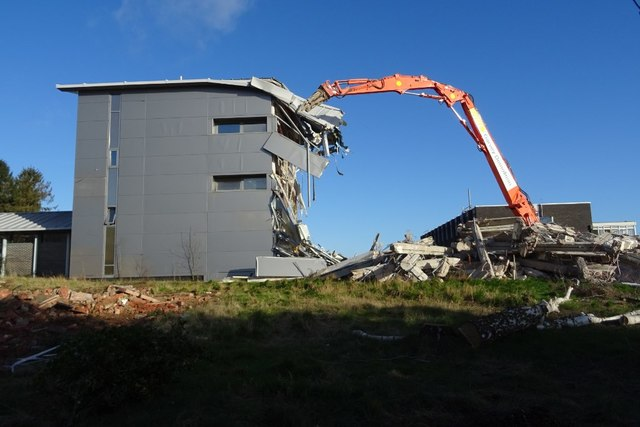 Demolition of the former Qinetiq site - 12 February