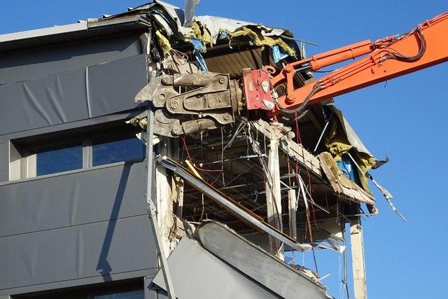 Demolition work on former Qinetiq site - 12 February