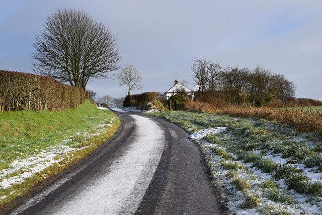Bend along Meenmore Road