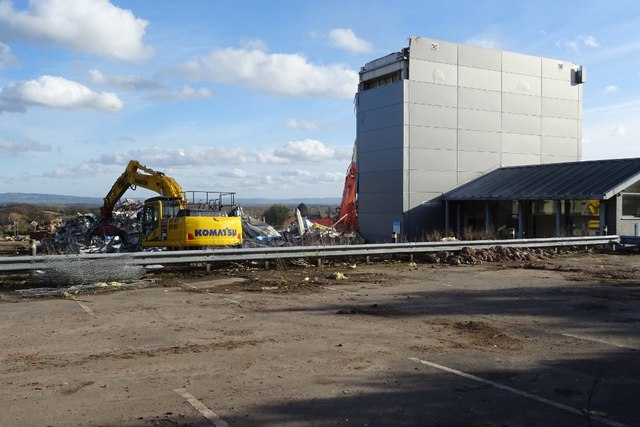 Demolition work on former Qinetiq site - 12 February