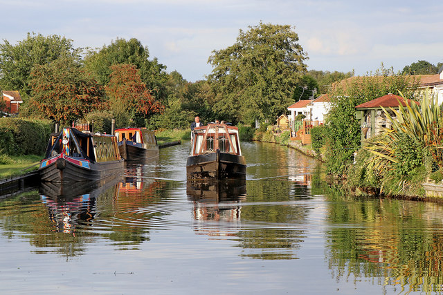 Narrowboats in Penkridge, Staffordshire