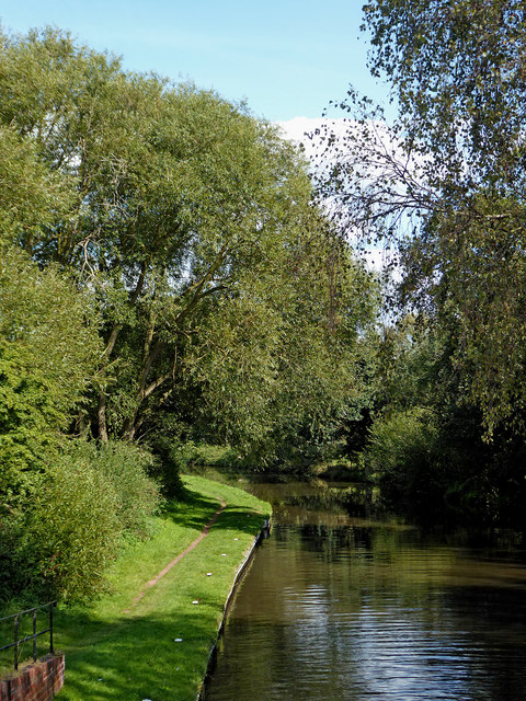 Canal east of Boggs Lock near Gailey, Staffordshire