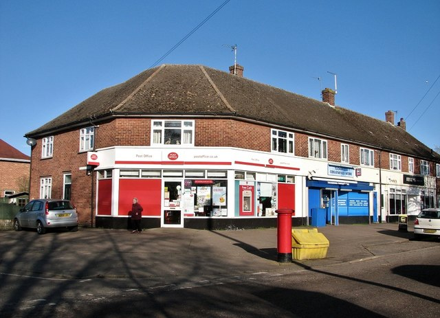 Post Office and shops at Tuckswood Centre