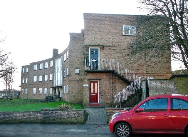 A block of flats in Friar Tuck Road