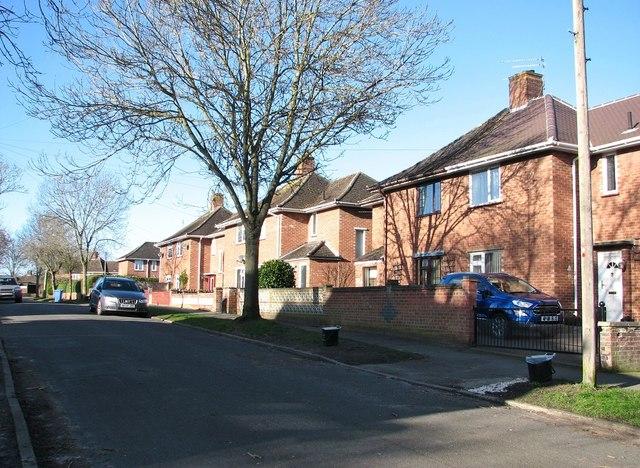 Houses in Friar Tuck Road