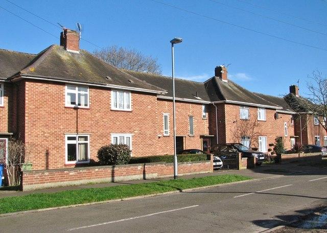 Terraced houses in Little John Road