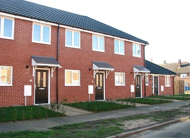 New houses in Little John Road