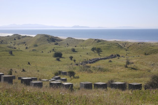 Dunes and tank traps, Gullane