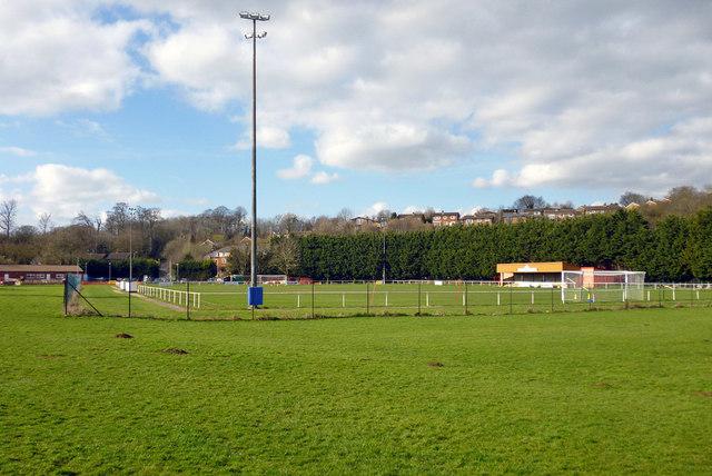 Football pitch, Stratford Fields, Buckingham