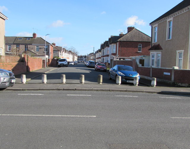 Concrete posts across the western end of Alice Street, Newport