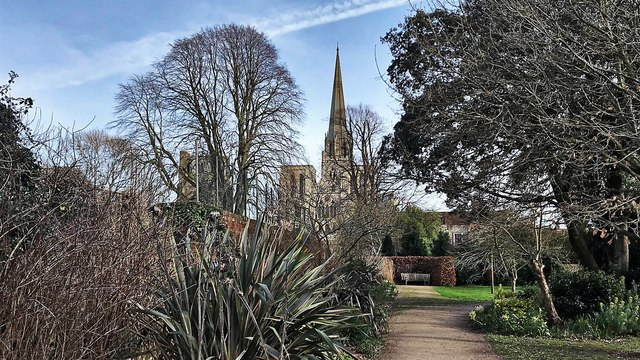 Chichester Cathedral - from Bishop's Palace Garden