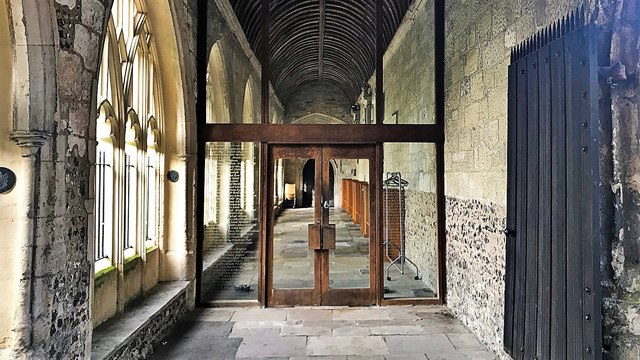 Chichester Cathedral - a door in the cloisters