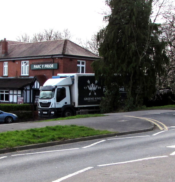 Greene King lorry, Malpas, Newport