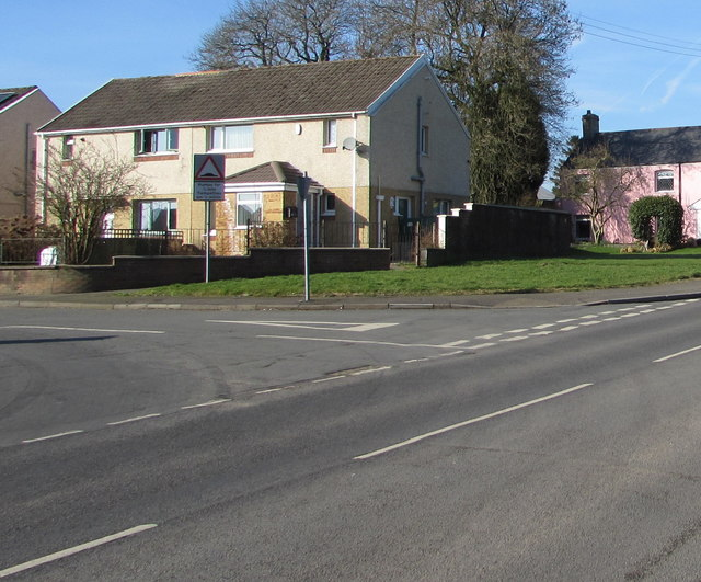 Junction of Church Road and Aneurin Bevan Avenue, Gelligaer