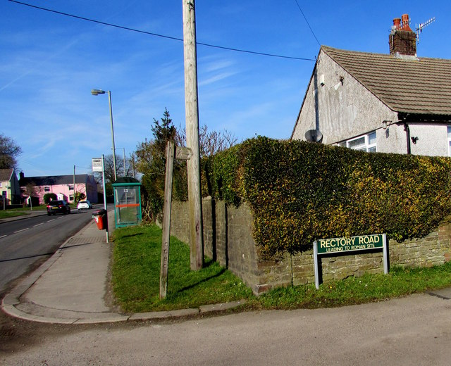 Corner of Rectory Road and Church Road, Gelligaer