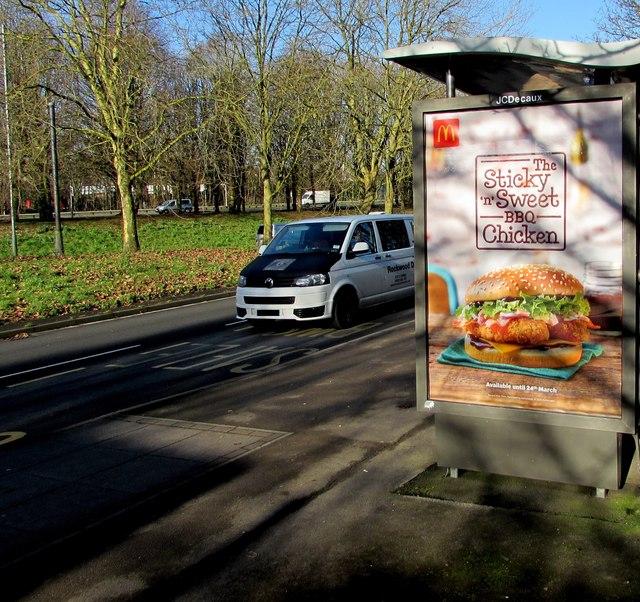 Sticky 'n' Sweet BBQ Chicken advert, Crindau, Newport