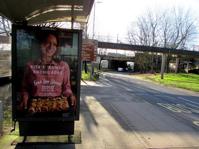 Rita's 'Rowdy' Enchiladas advert, Crindau, Newport