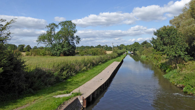 Canal and farmland south of Penkridge, Staffordshire