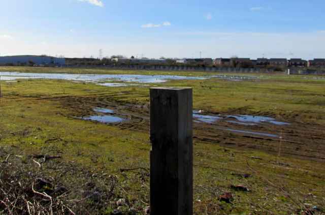 Waterlogged land west of Mendalgief Road, Newport by Jaggery