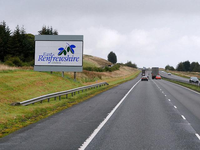 M77 Motorway, East Renfrewshire