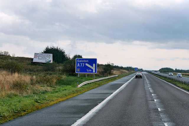 Westbound M77 towards Junction 6