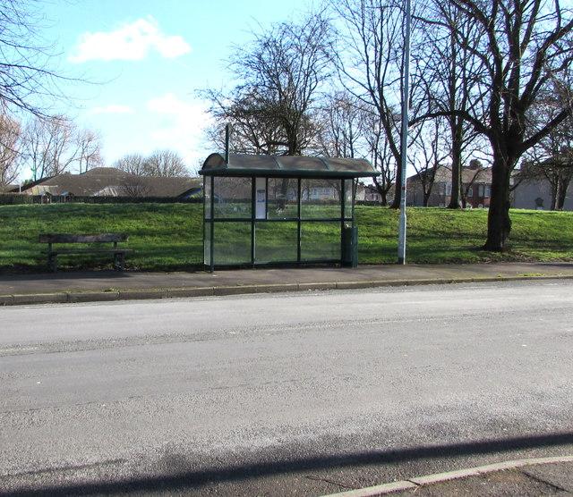 Mendalgief Road bus stop and shelter, Newport
