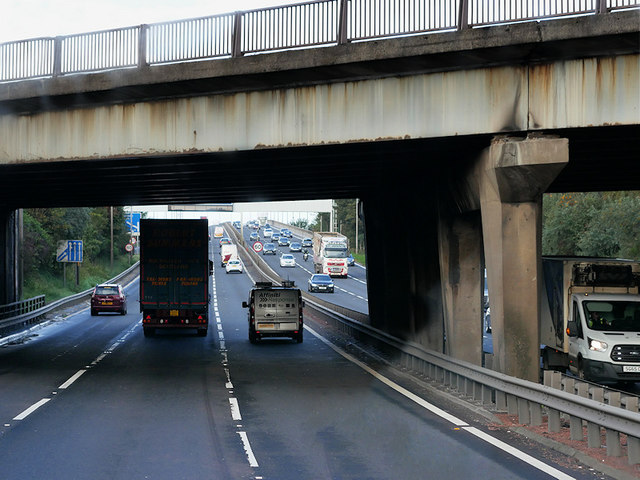 Renfrew Road Bridge over the M8 at Gallowhill