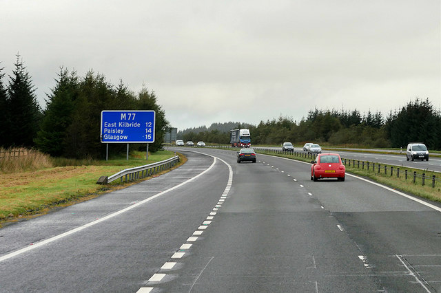 M77 Eastbound between Kilmarnock and Glasgow