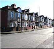 ST3186 : Mendalgief Road houses southeast of Marion Street, Newport by Jaggery