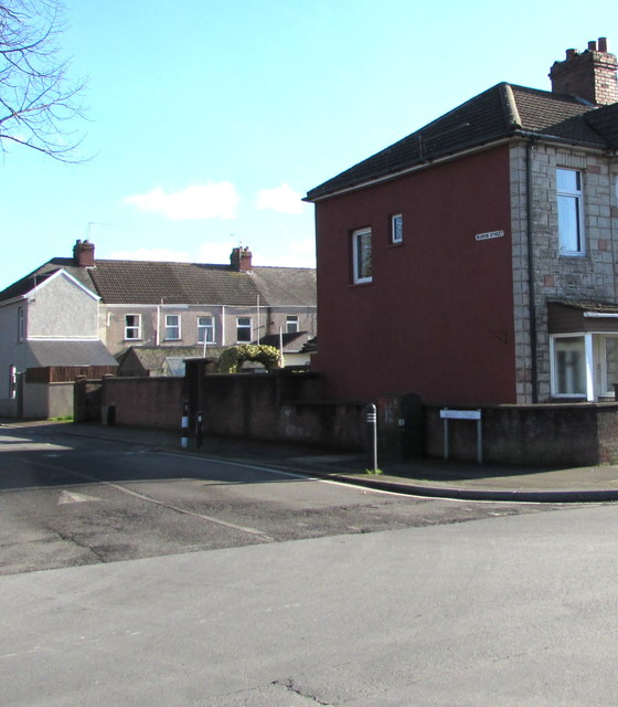 Marion Street towards Oswald Road, Newport by Jaggery