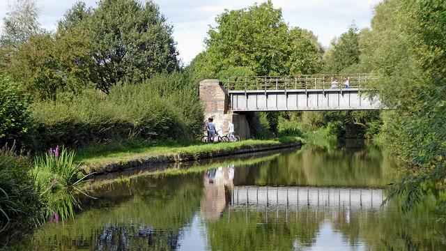 Rail Bridge south of Penkridge in Staffordshire