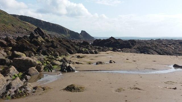 Beach below Trefane Cliff
