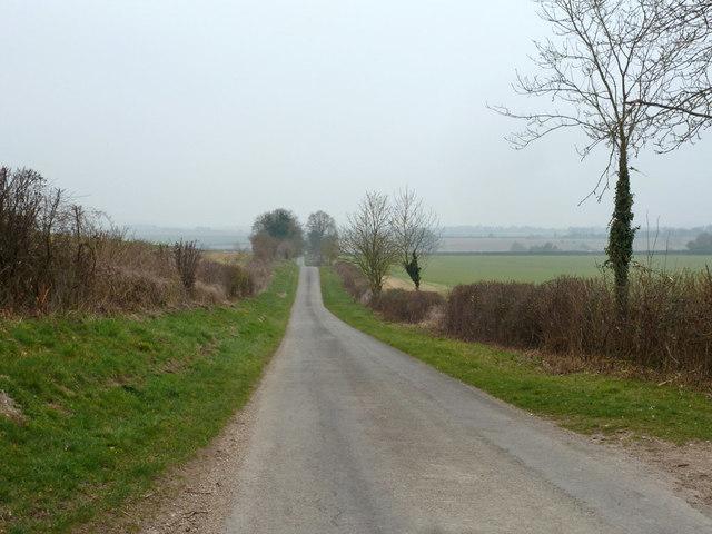 Newton Lane towards Newton Stacey